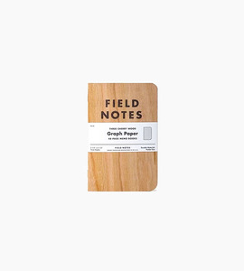 Field notes cherry graph 3 pack   cherry wood