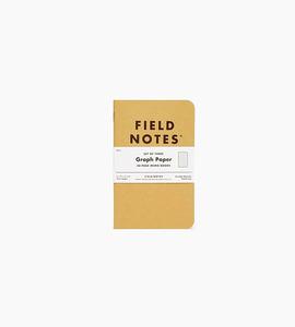Field notes original kraft graph 3 pack   kraft