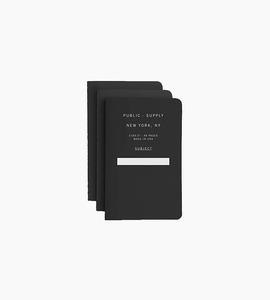 Public supply notebook set   3 pack   black 01